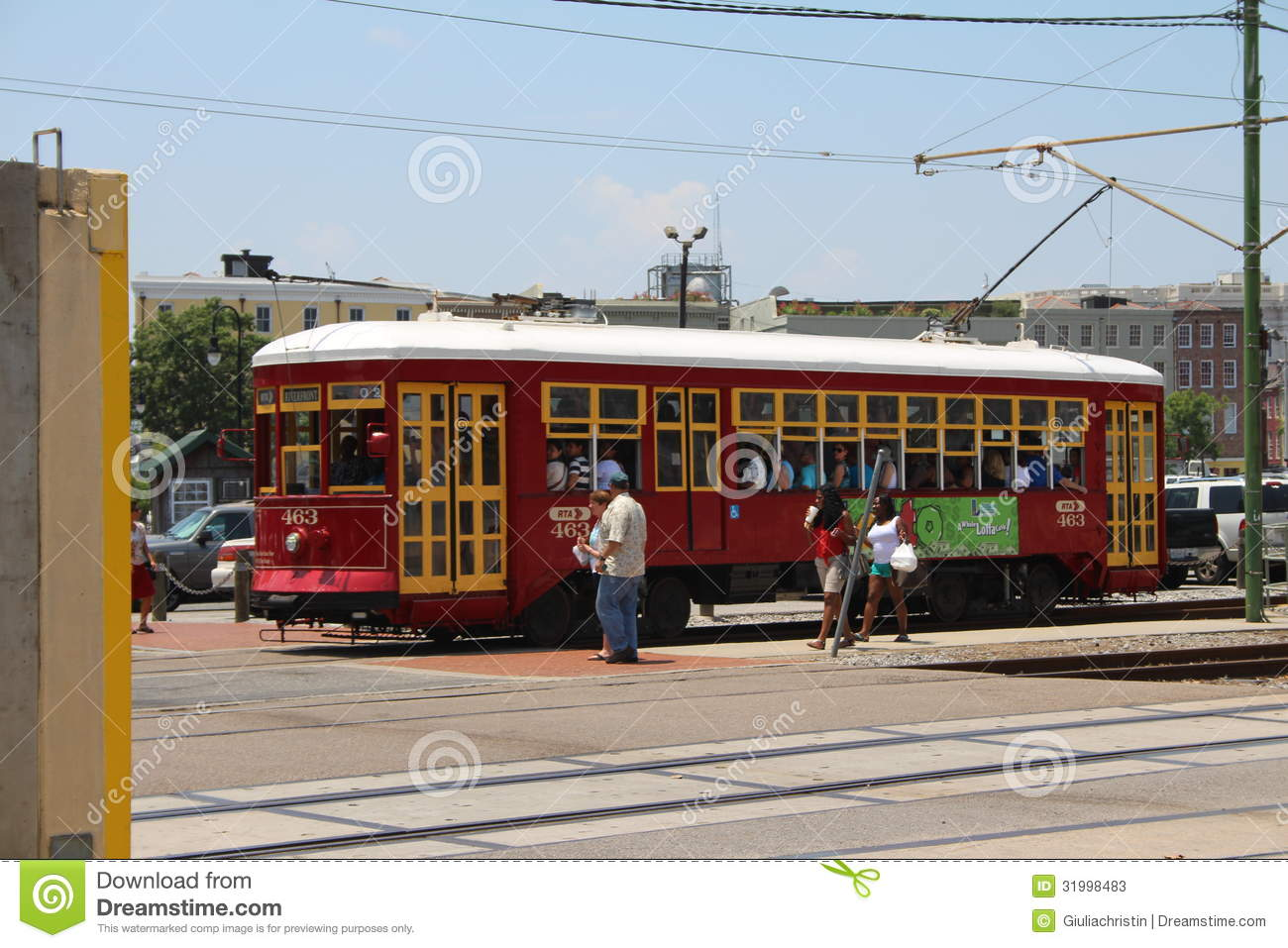 new orleans streetcar editorial stock photo image 31998483. Black Bedroom Furniture Sets. Home Design Ideas