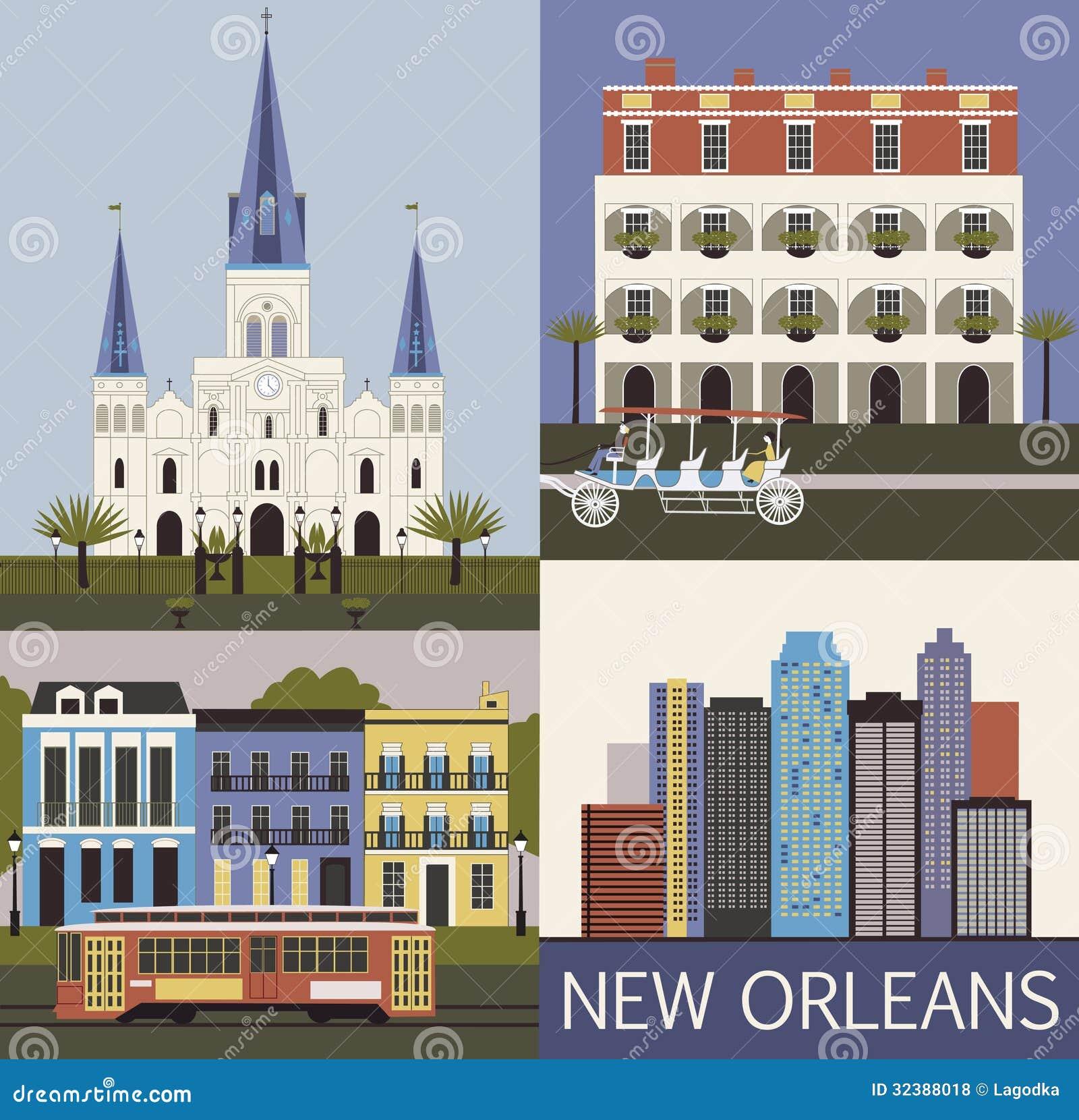 New Orleans. Vektor