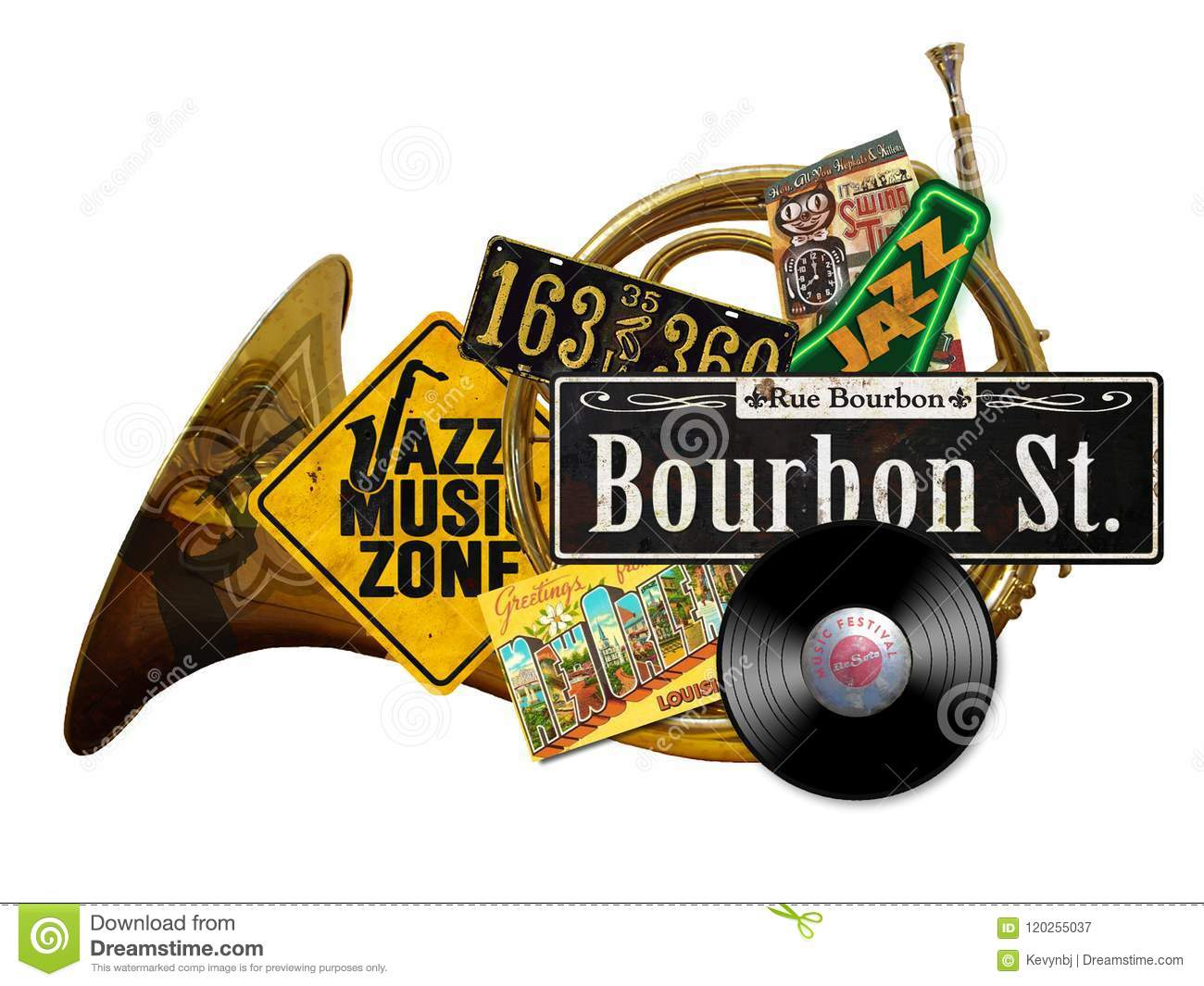 New Orleans Vintage Folk Art Sign Editorial Photography Image Of