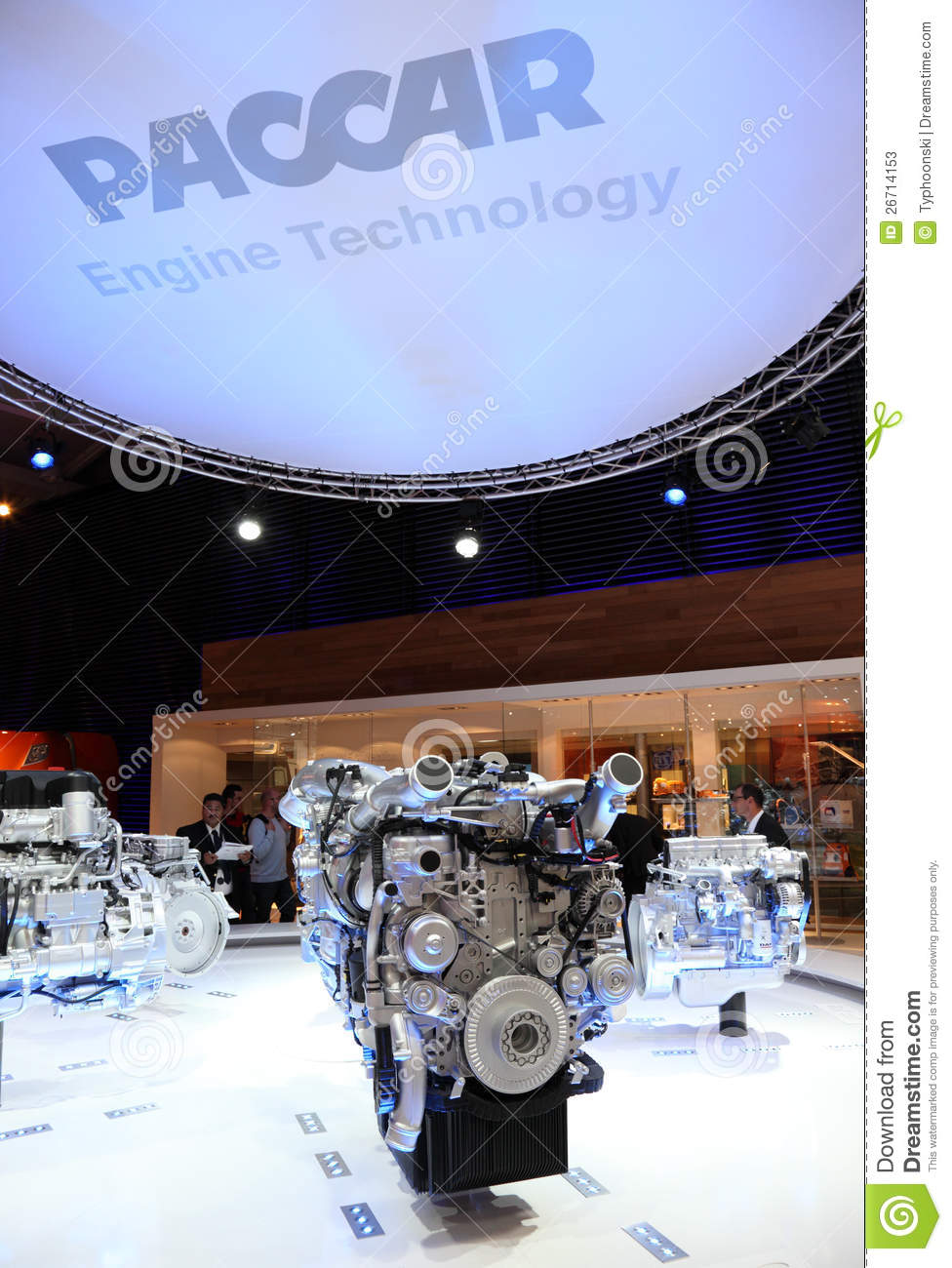New Paccar Diesel Engines Editorial Stock Photo
