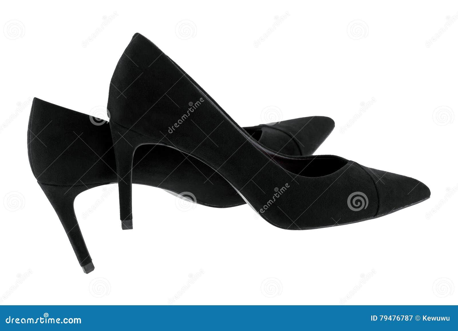 aa7fd609b53 New Pair Of Black Velvet High Heels, Beautiful Shoes For Ladies ...