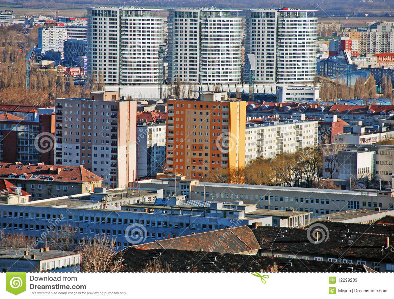 New Panorama Of Bratislava Stock Photos Image 12299283