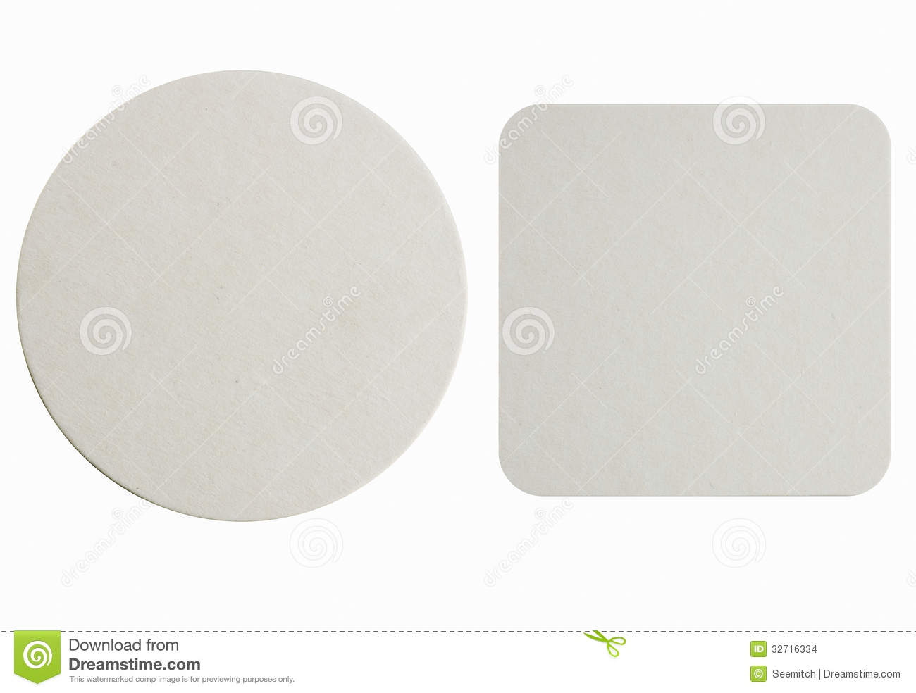 New Paper Coasters Stock Images Image 32716334