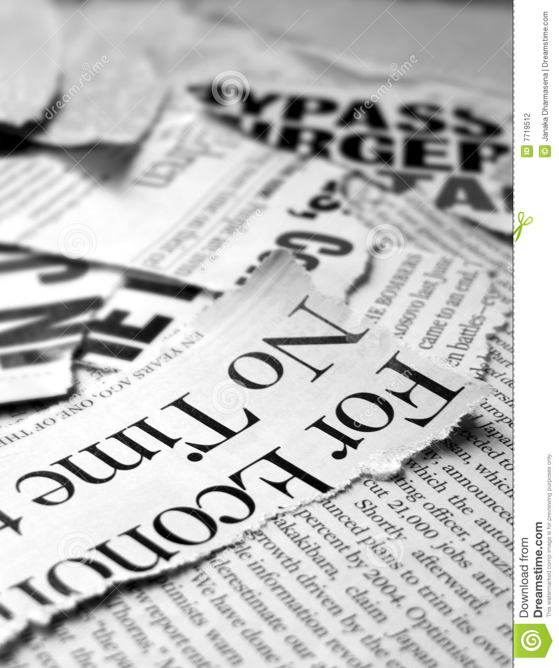 New Paper Headlines Stock Photography - Image: 7719512