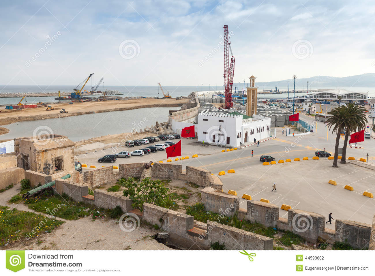 New passenger terminals under construction in port of - Moroccan port on the strait of gibraltar ...