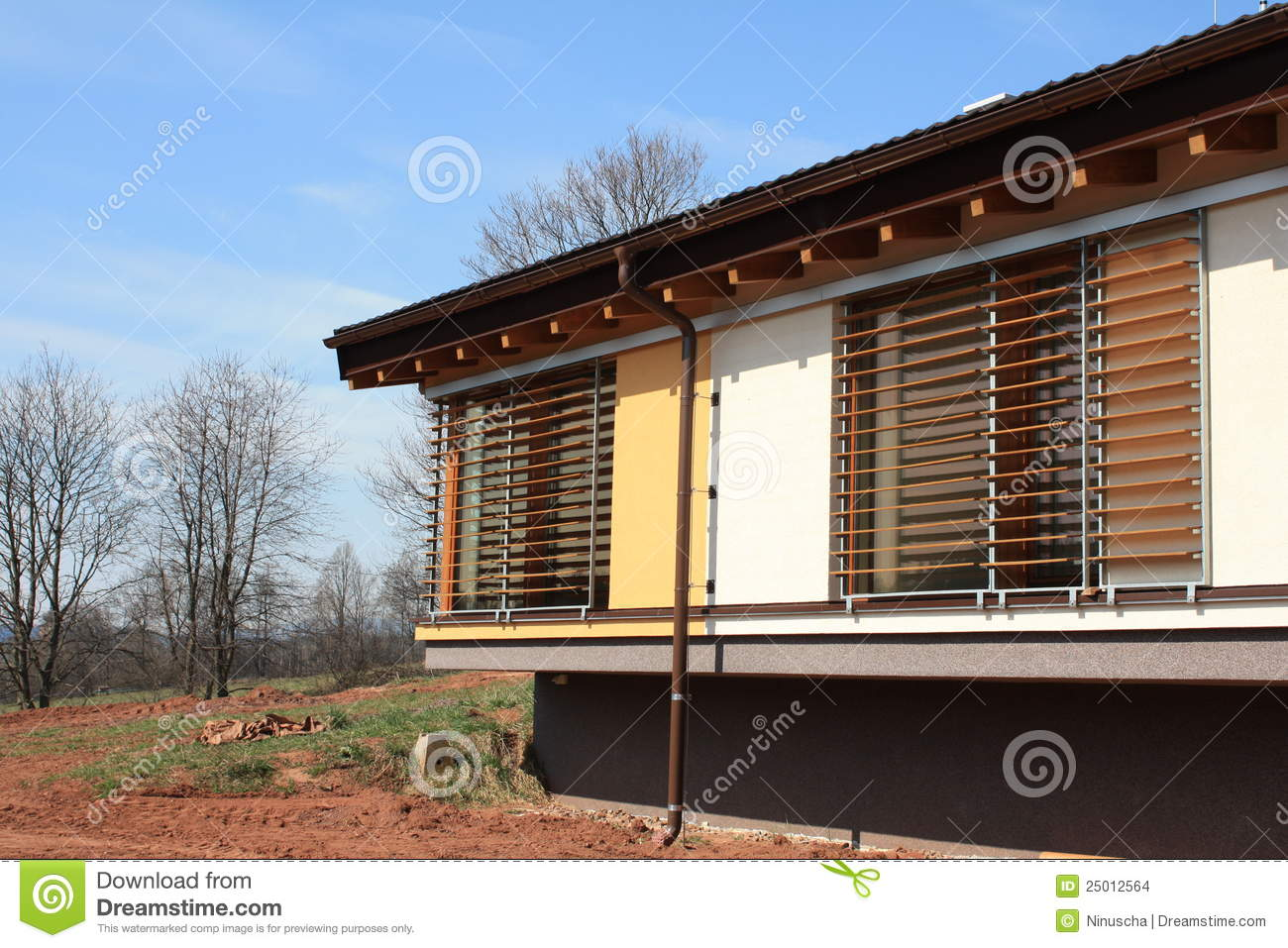 New Passive House With Blinds Stock Images Image 25012564