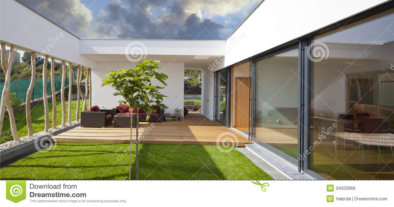 Modern House Beautiful Terrace And Landscape New Peaceful Modern Home Privat Garden Terrace Beautiful