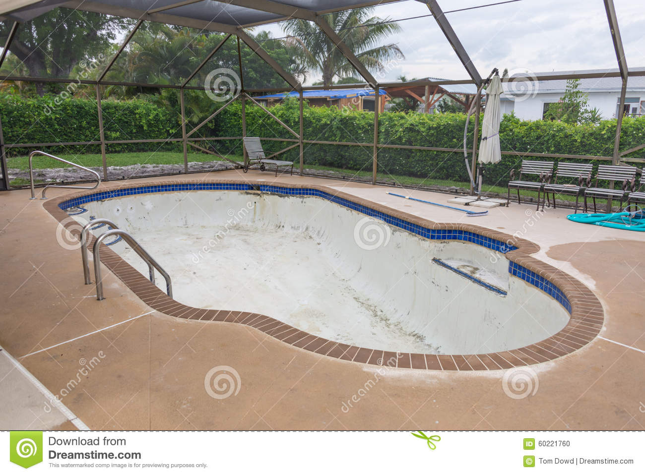 New Pool Tile Border Grout Work Remodel Stock Photo - Image ...