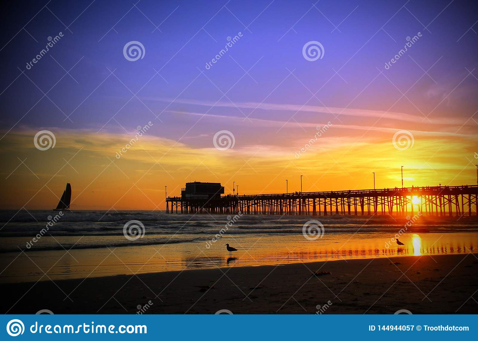 Newport Beach pier southern California