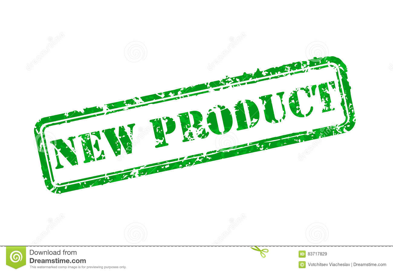 New Product Rubber Stamp Stock Vector