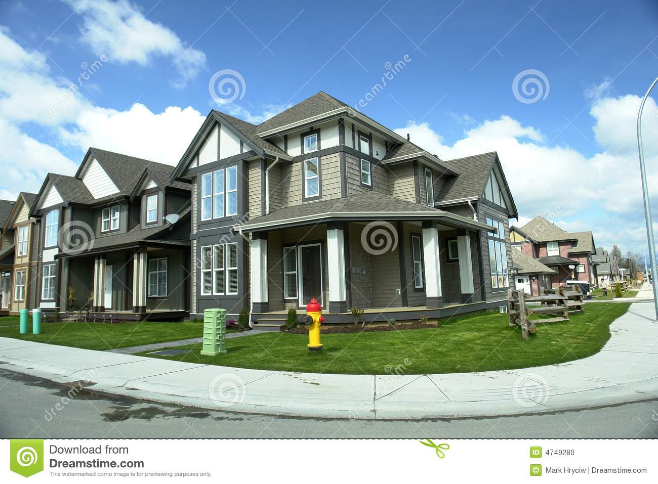 New real estate subdivision bc stock photo image