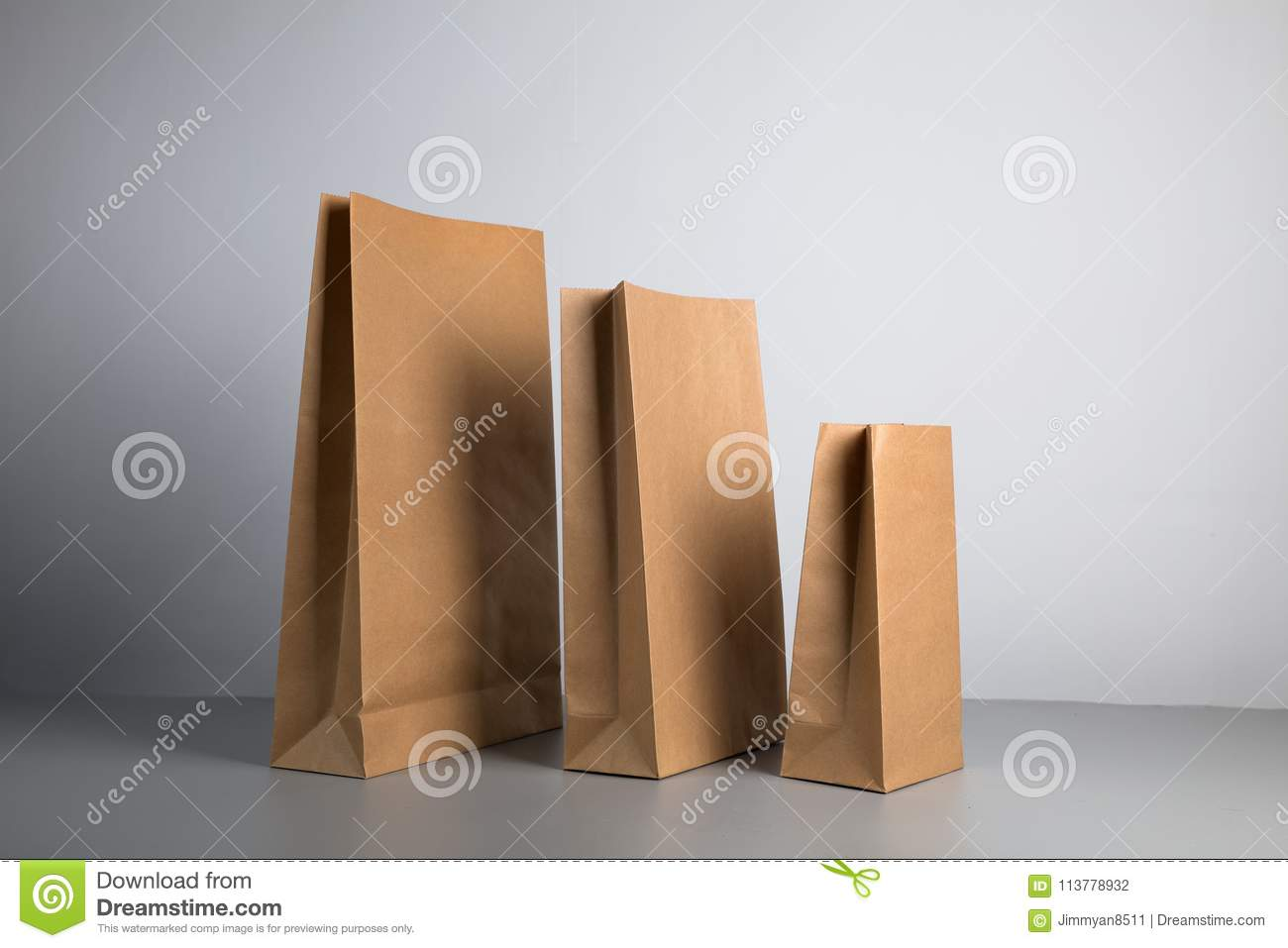 Kraft Paper Bag Stock Photo Image Of Design Retail 113778932