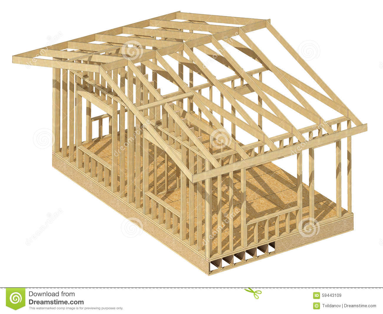 New residential construction home framing royalty free for New home structure