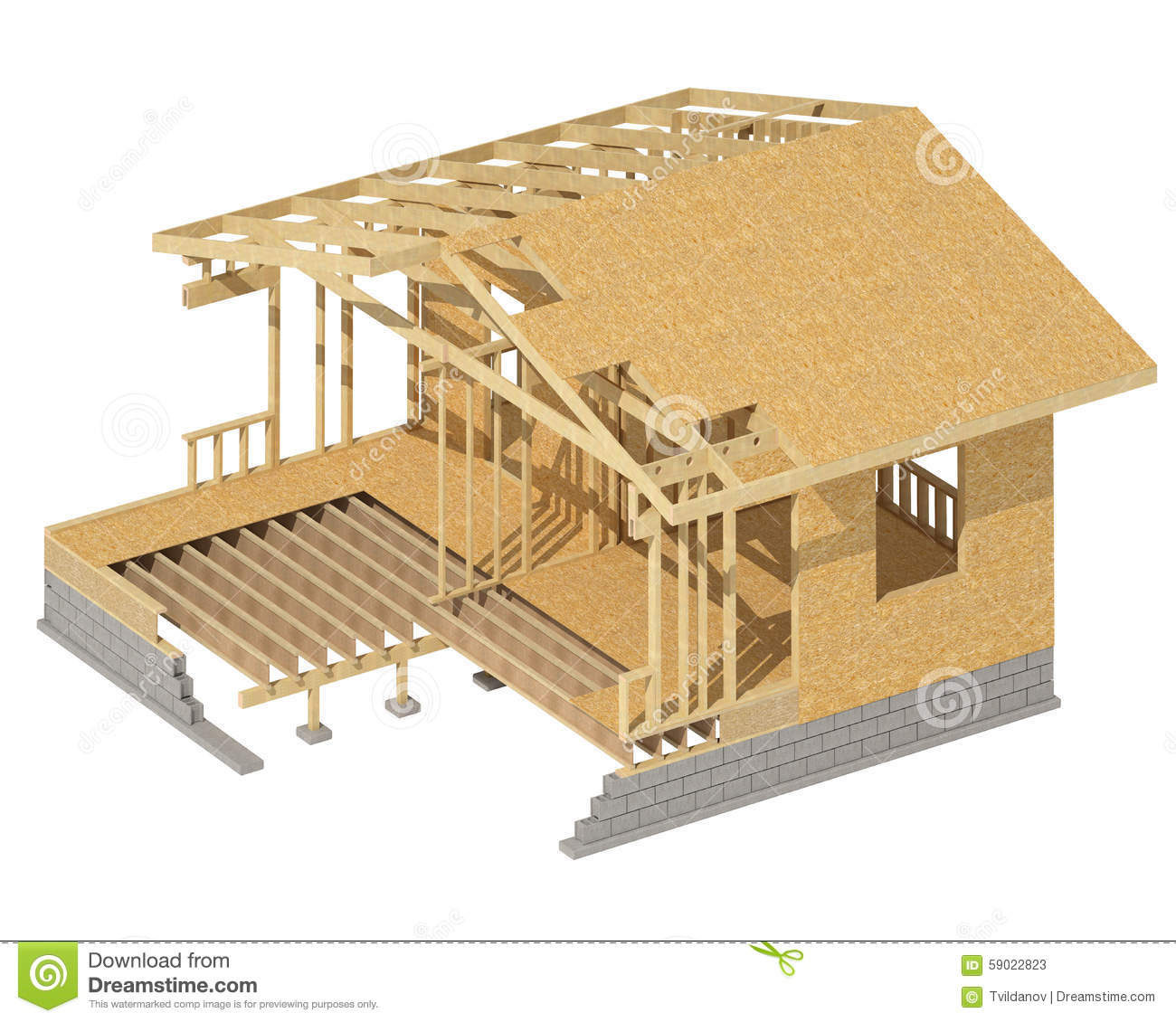 New residential construction home wood framing stock for Exterior framing