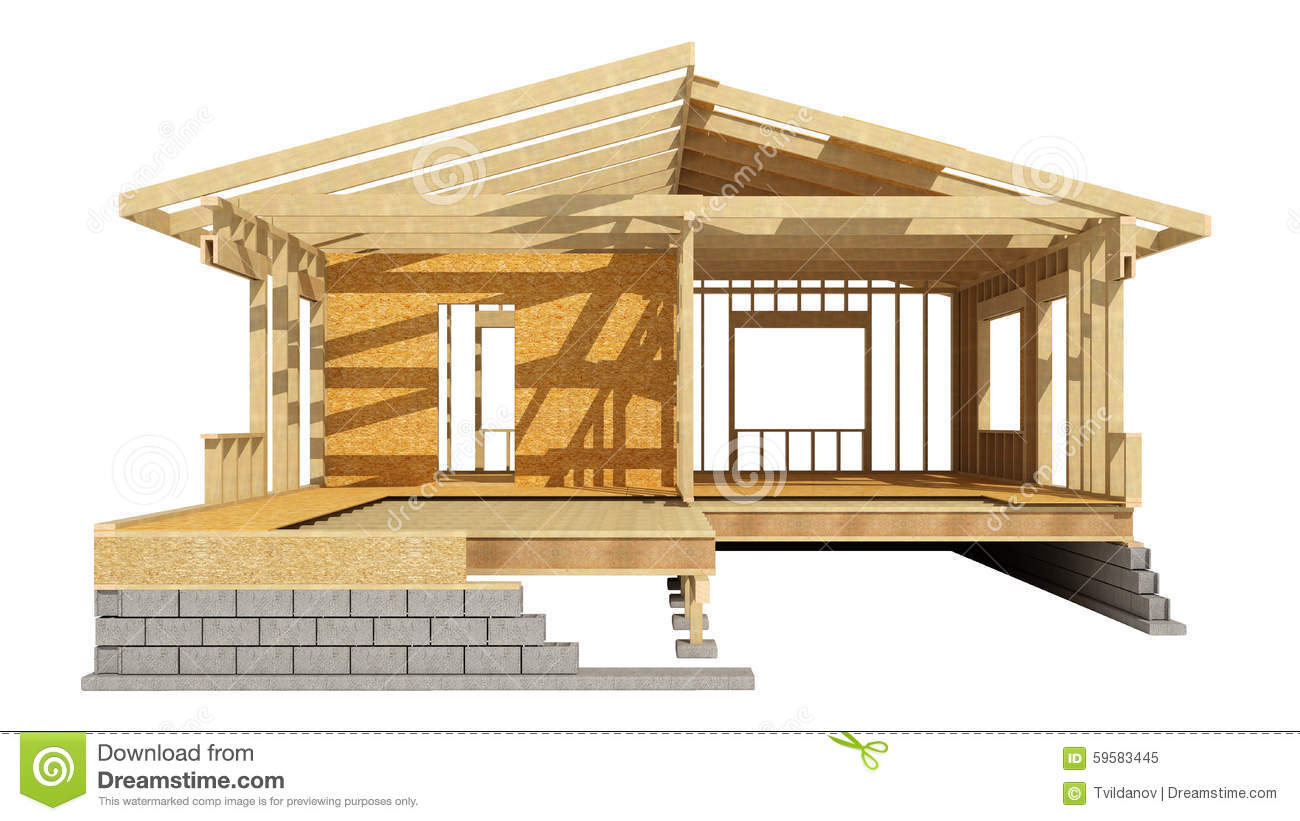 New residential construction home wood framing stock New construction home plans
