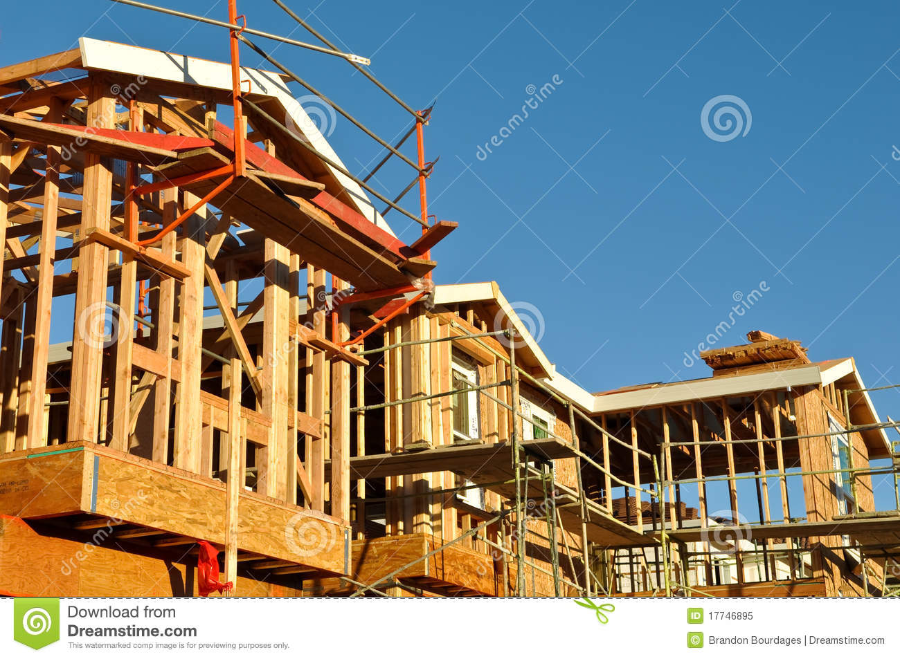 New Residential Homes Under Construction Stock Image