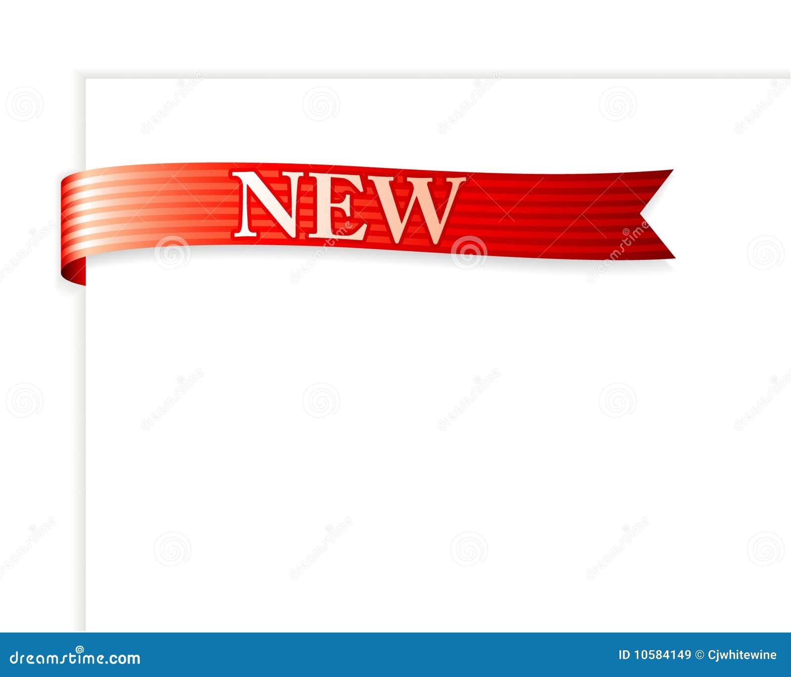 New Ribbon stock vector. Illustration of frames, design ...