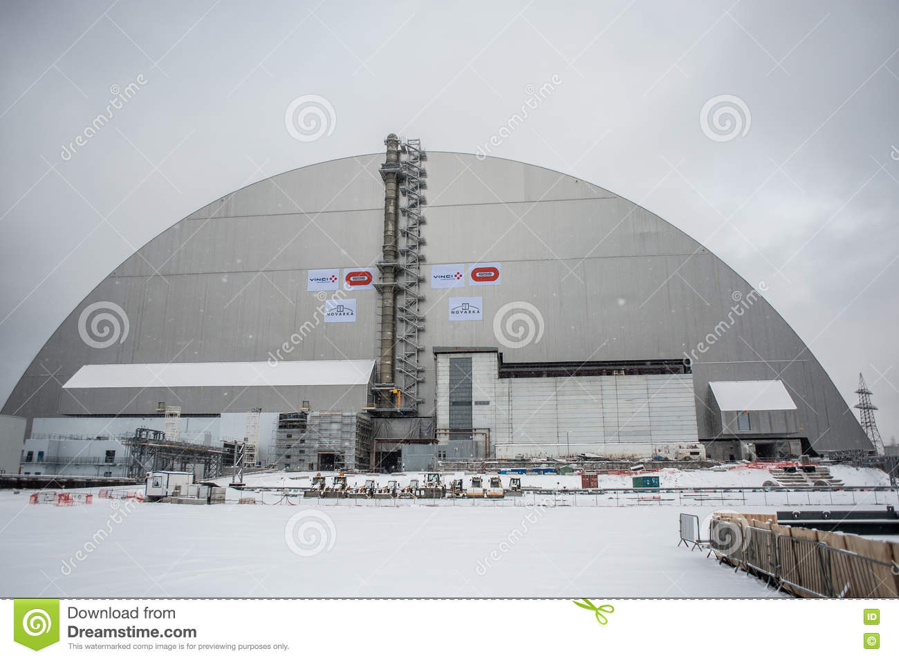 The New Safe Confinement editorial image  Image of