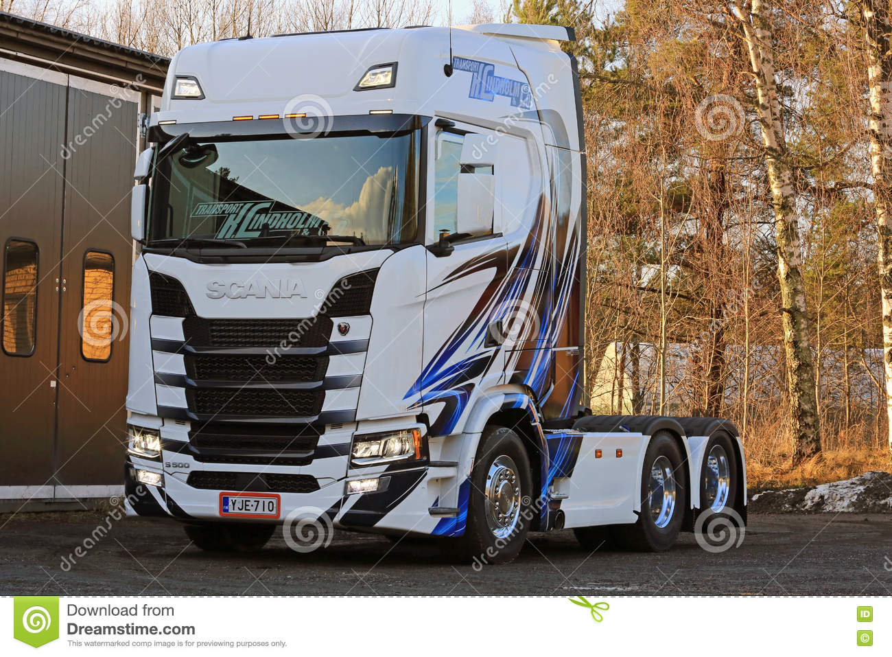 Free Rc Plans New Scania S500 Truck In Finland Editorial Photography