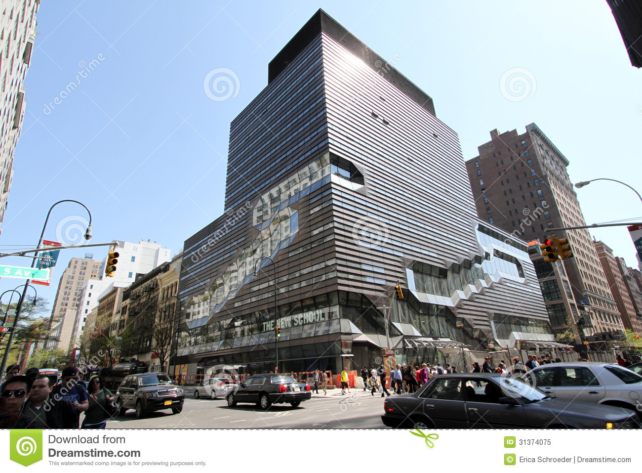 New school university center nyc editorial image image for Design schools nyc