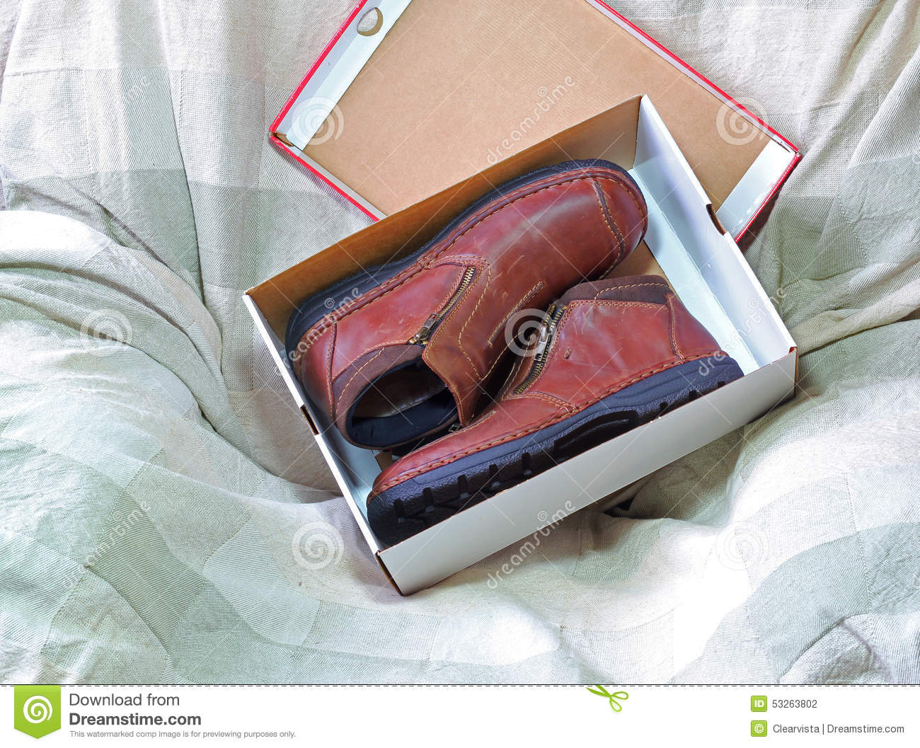 a0bb99f5a378 New shoes in a box. stock photo. Image of packaging