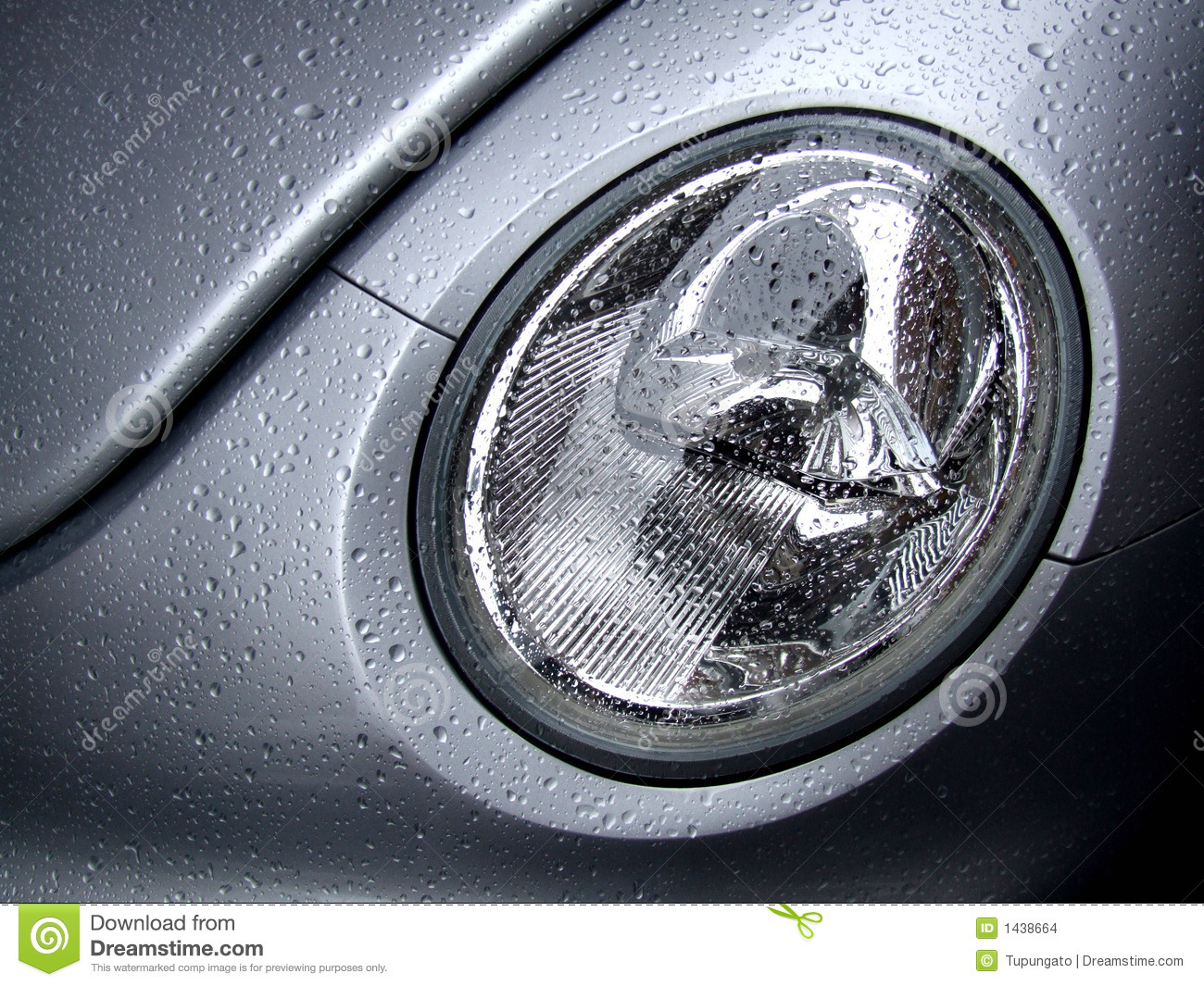 New Silver Car Lamp With Water Drops Stock Images - Image: 1438664