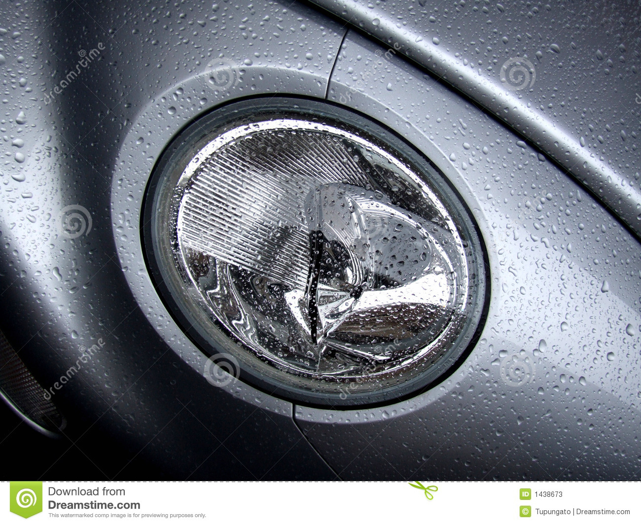 New Silver Car Lamp With Water Drops Stock Image - Image: 1438673