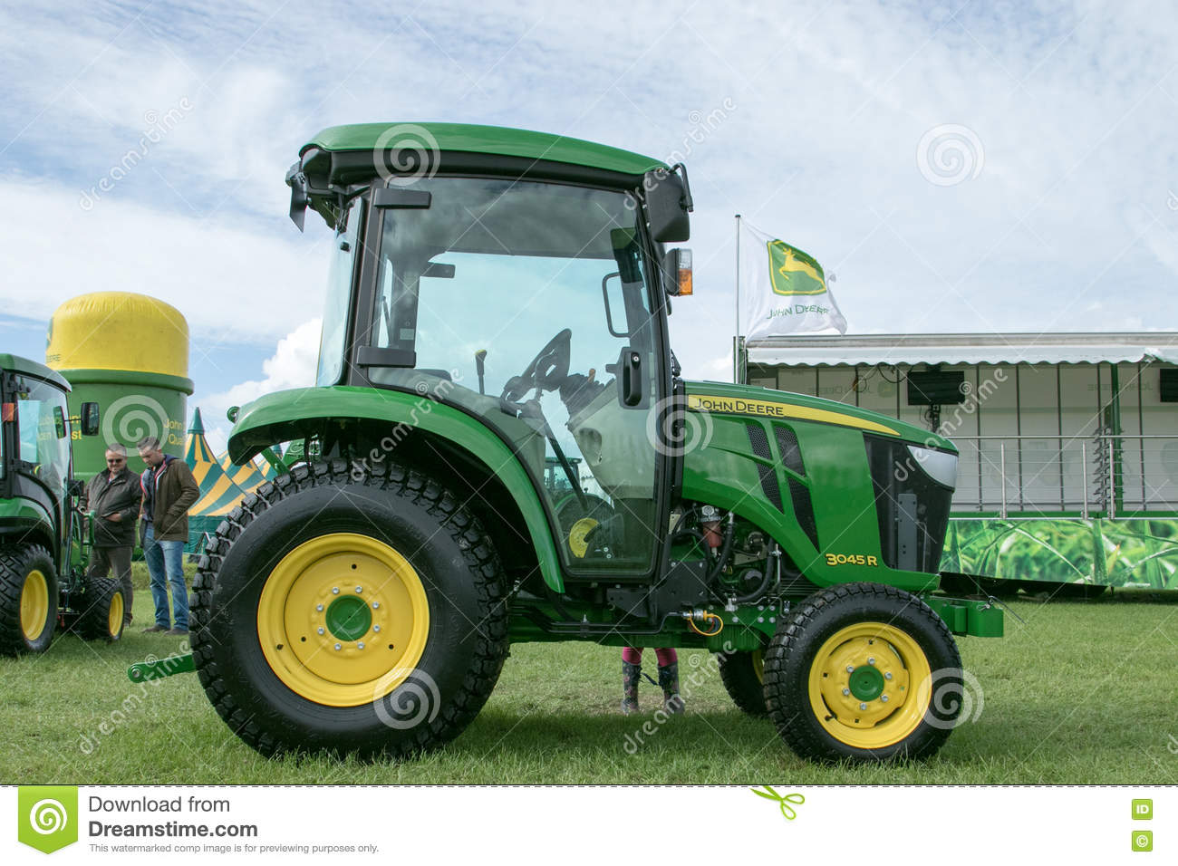John Deere Tractor Shows : New small john deere r tractor at show editorial photo