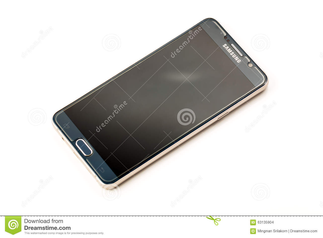 New Smartphone Samsung Galaxy Note 5 With S Pen Editorial