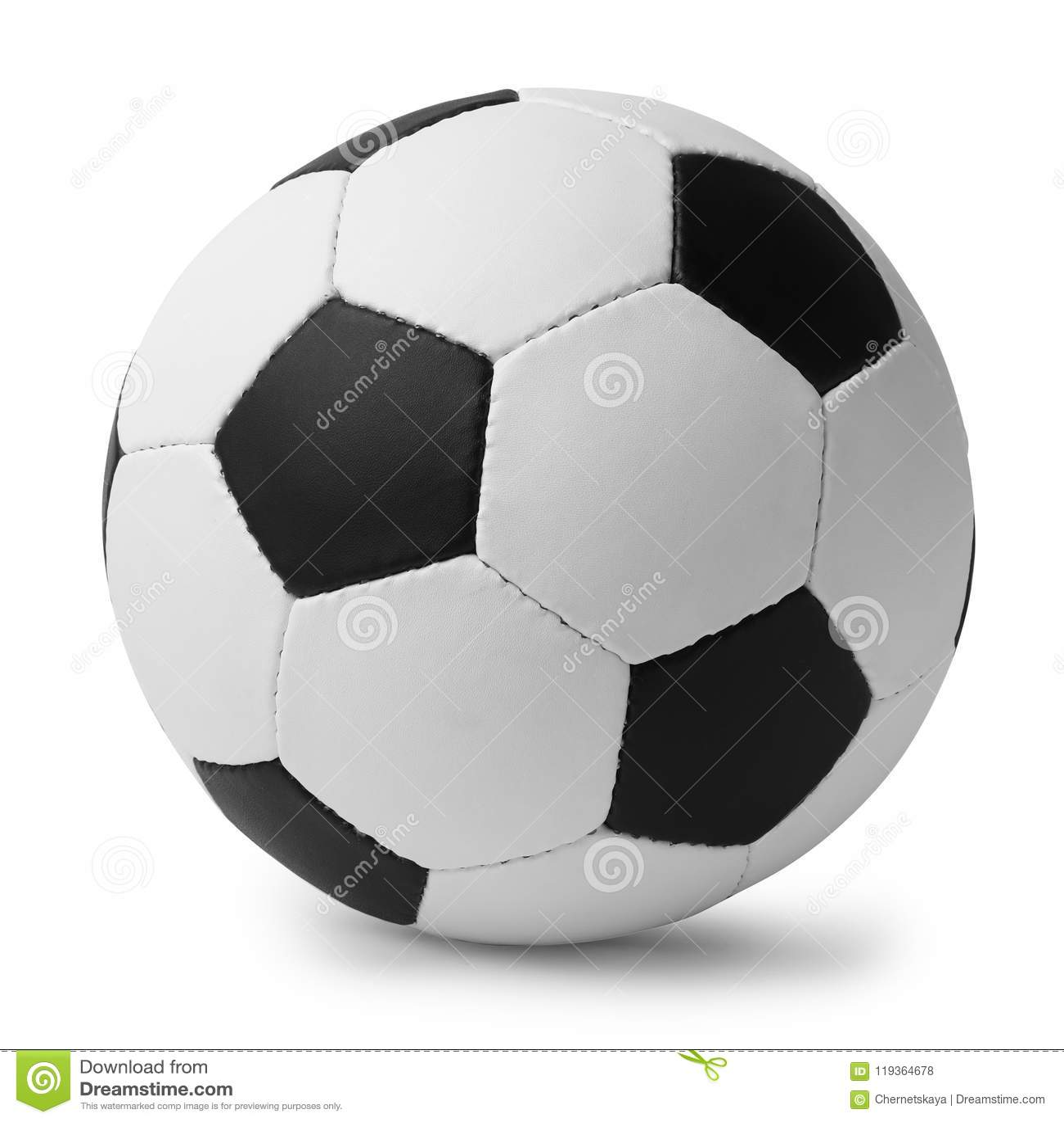 New soccer ball on white background