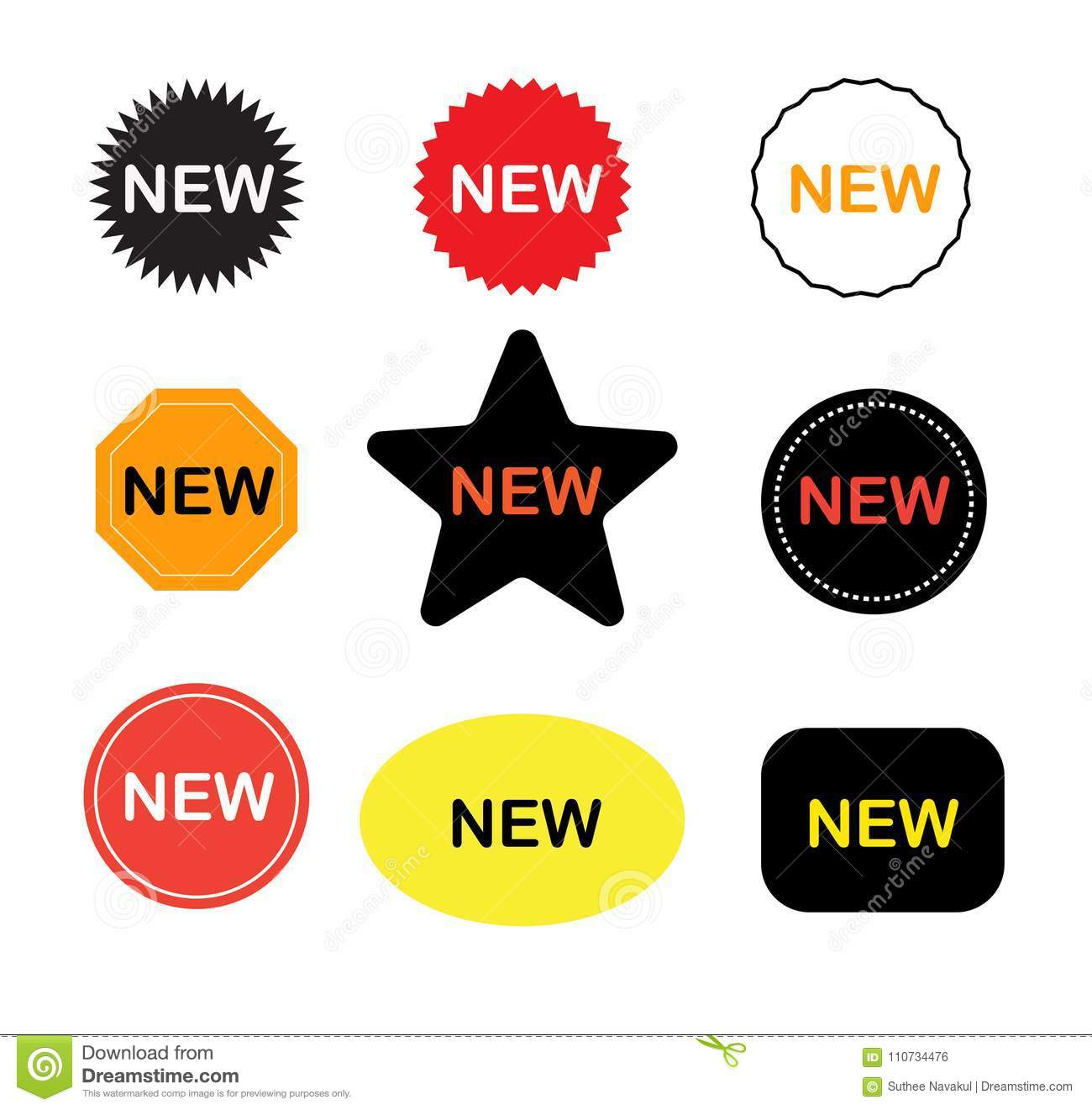 New stickers icon on white background new labels sign