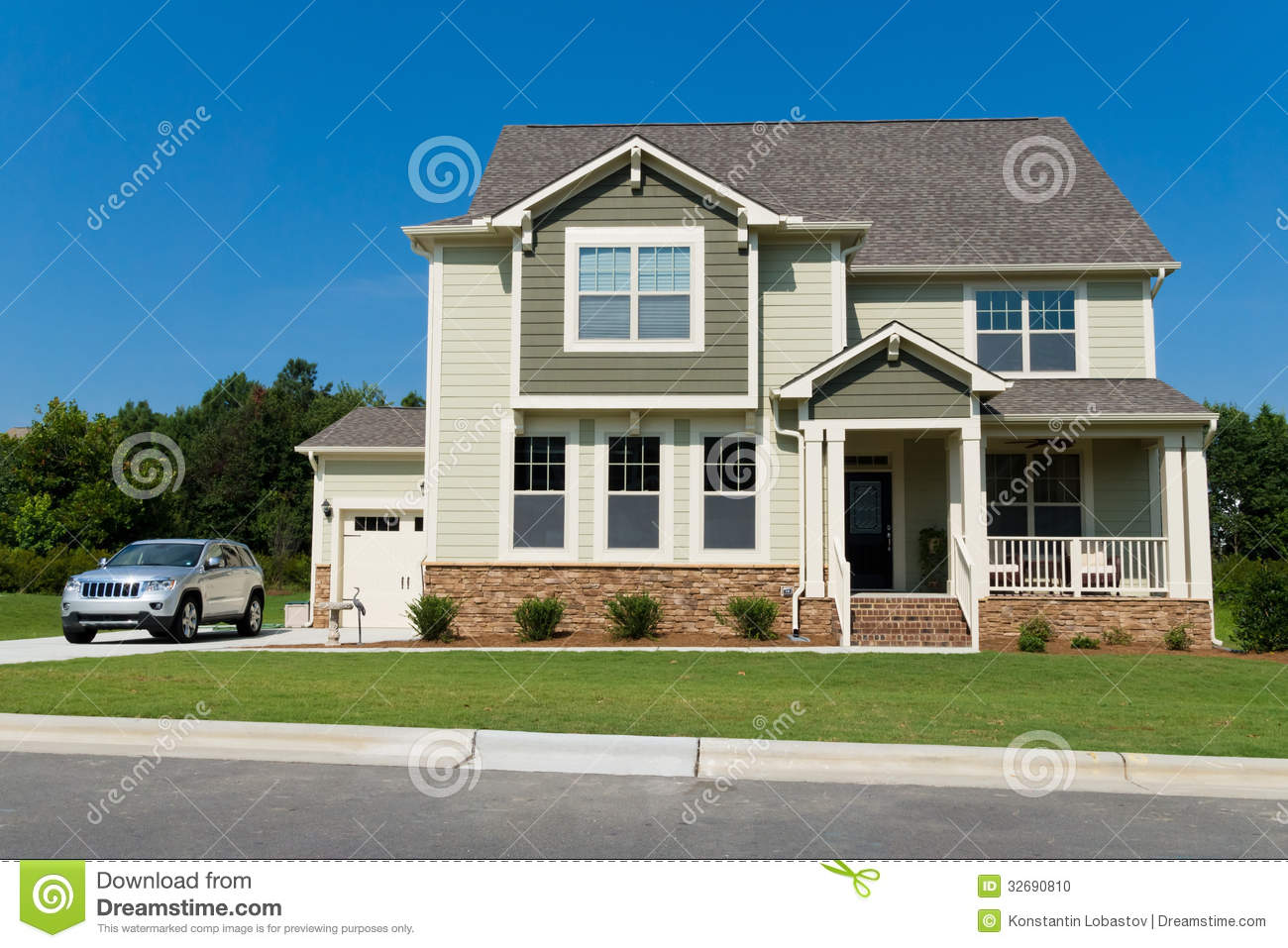 Custom House Plans For Sale New Suburban House Stock Photo Image 32690810