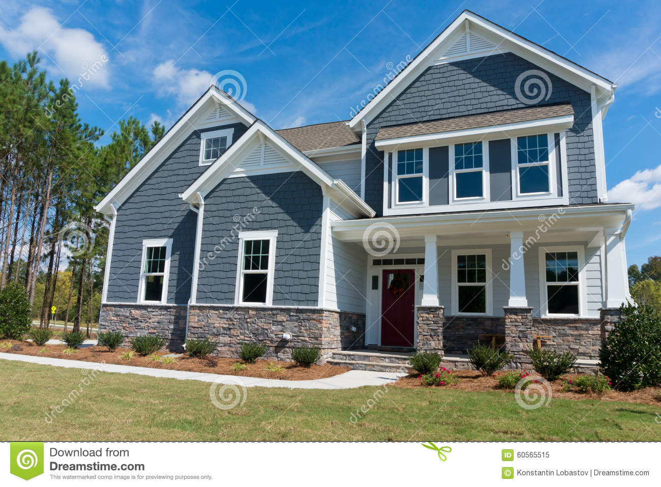 new suburban house stock image image of porch modern 60565515
