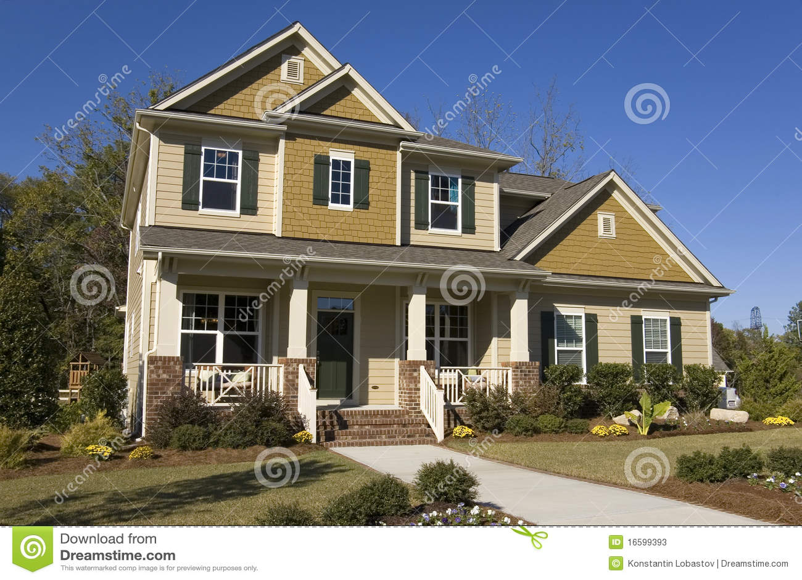 new suburban house for sale stock photos image 16599393