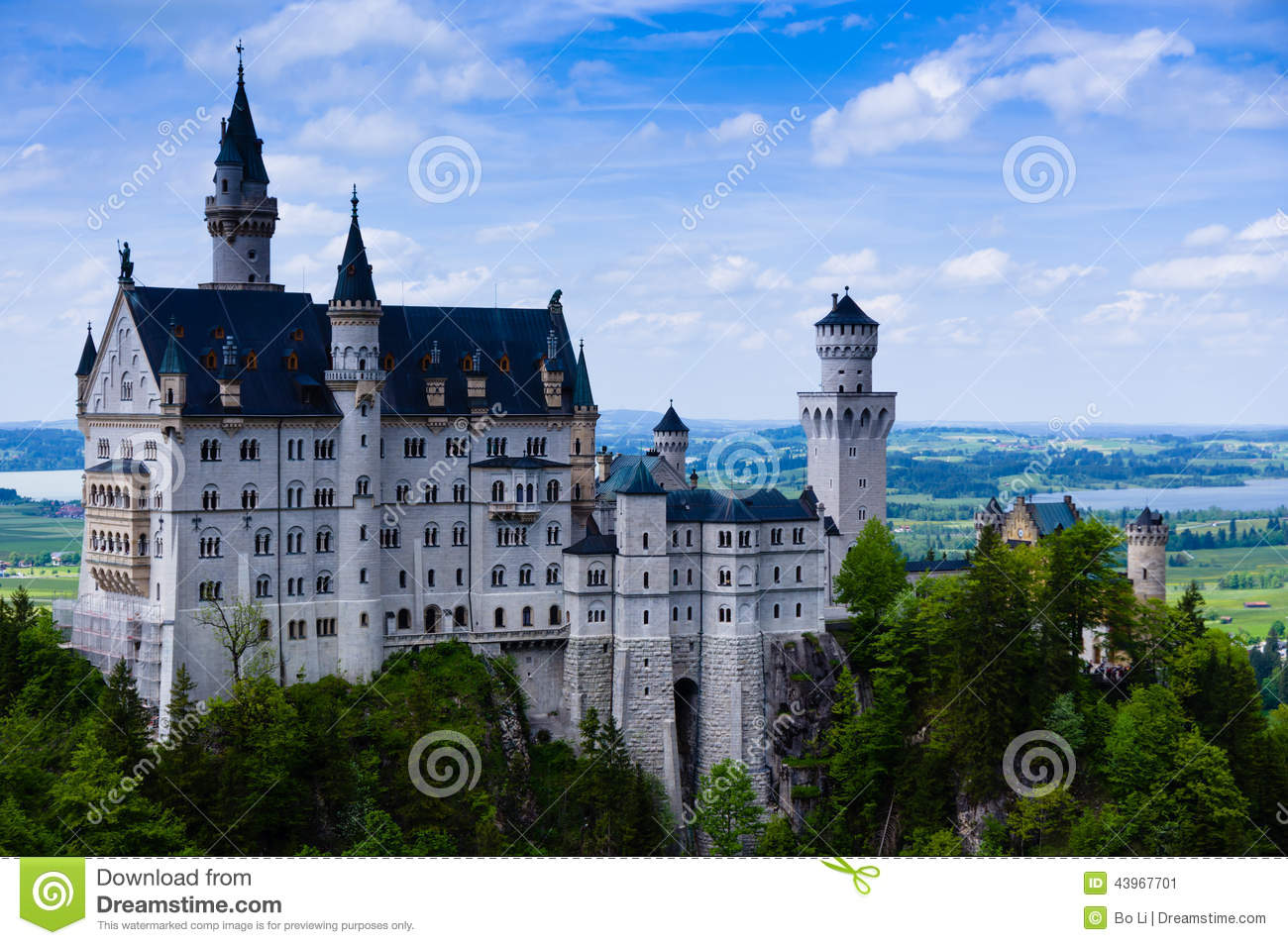 Neuschwanstein Castle(New Swanstone Castle) Stock Image - Image of ...
