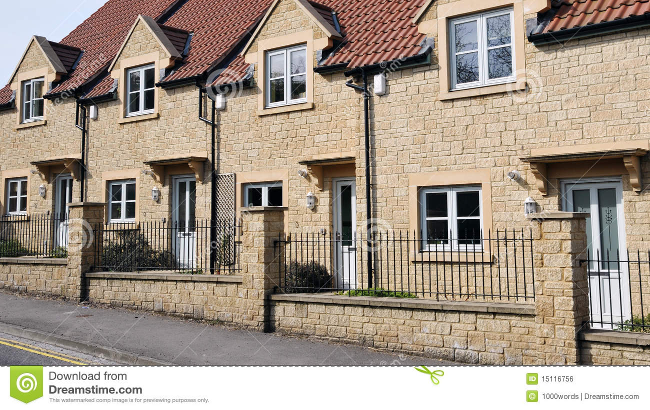 new terraced houses royalty free stock image image 15116756
