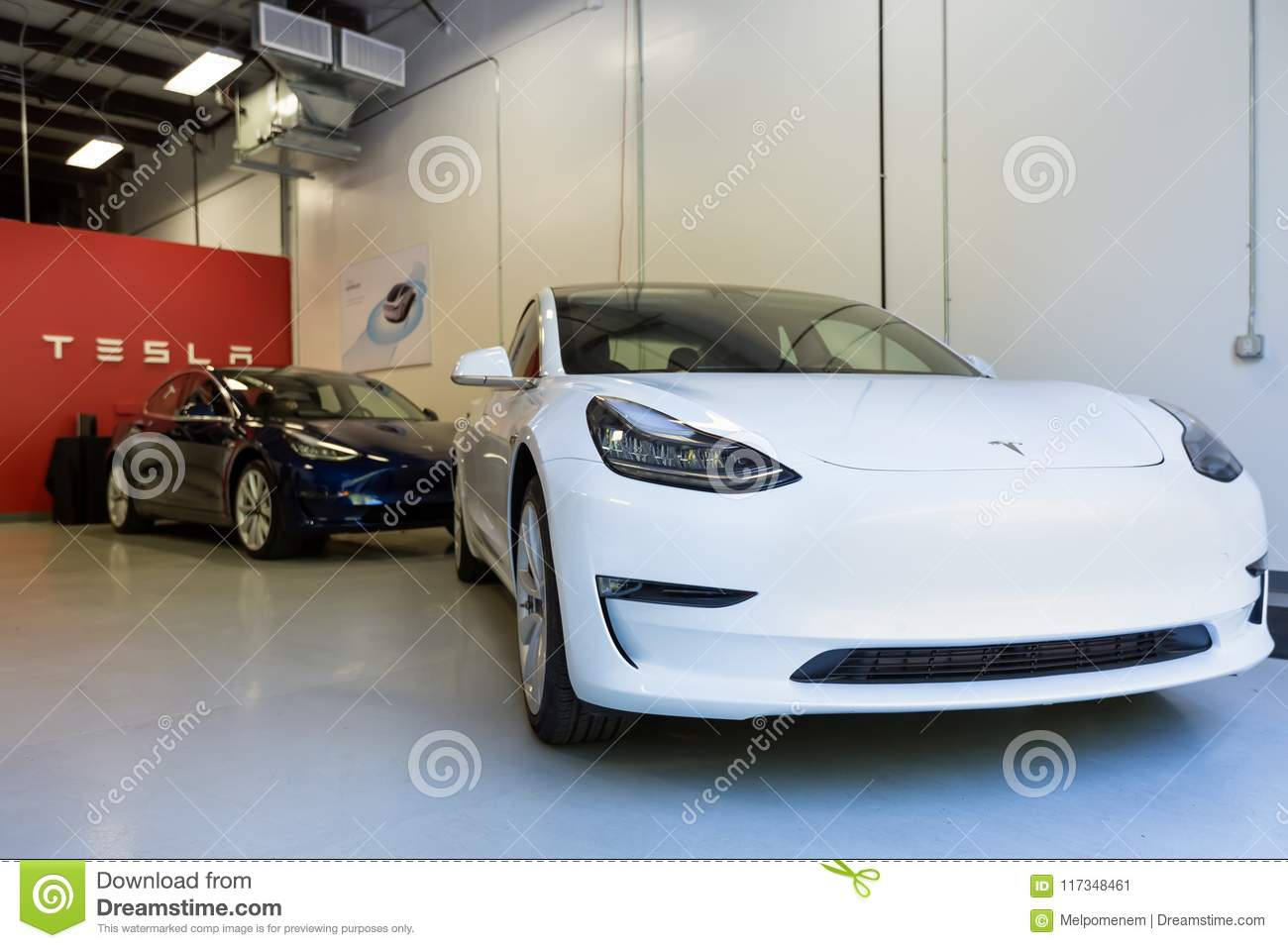 New Tesla Model S Inside The Tesla Store In Raleigh NC Editorial - Raleigh car show