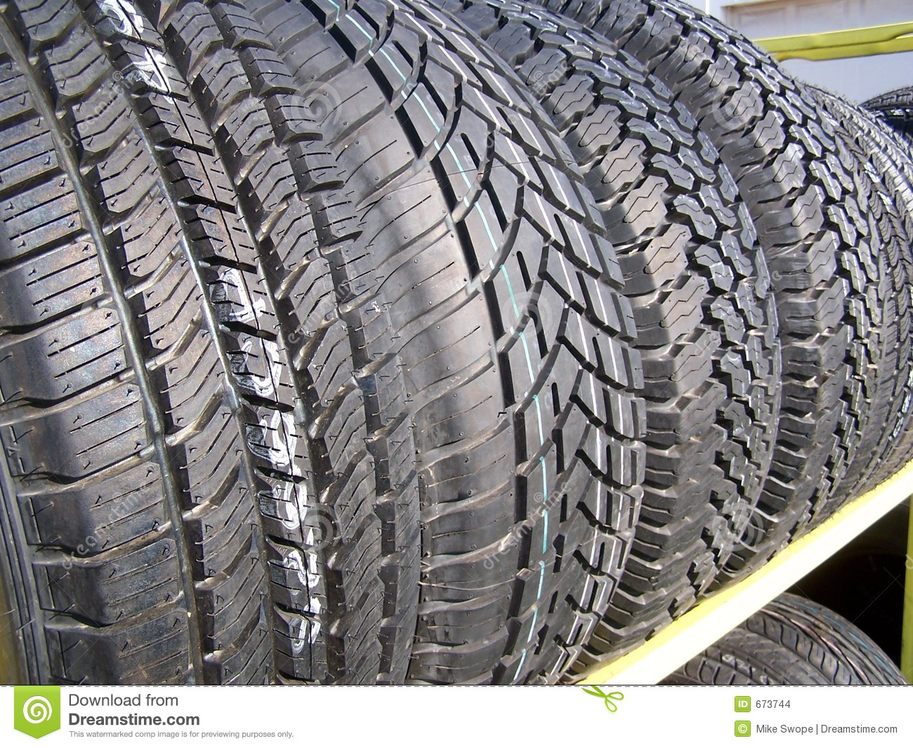 New Tires For Sale 2 Stock Images