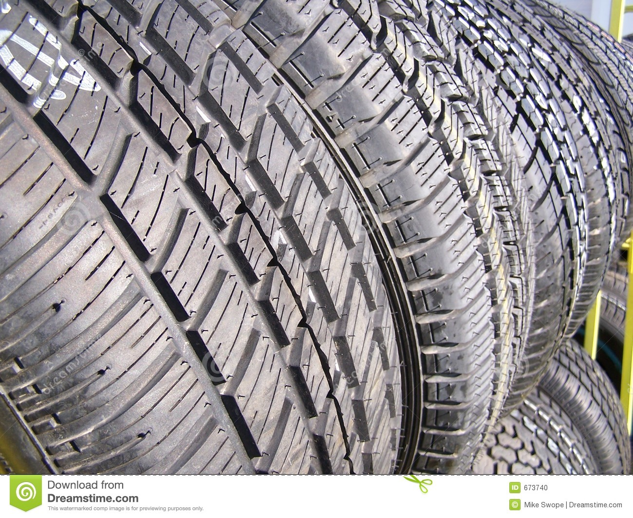 Car Tire Sales: New Tires For Sale Stock Photo