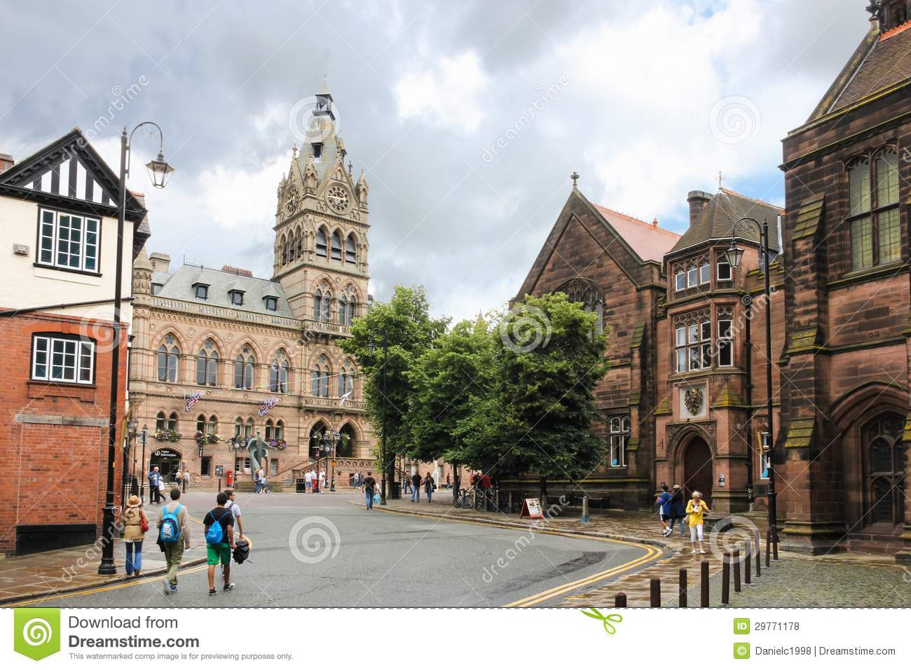 Town hall viewed from werburgh chester england editorial for Newtown builders