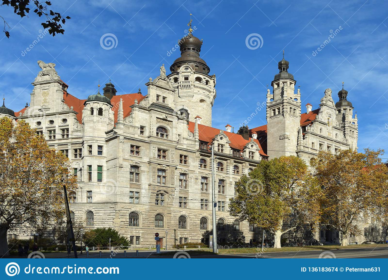 New Town Hall Of Leipzig Germany Editorial Stock Image Image Of Cityhall Tourism 136183674