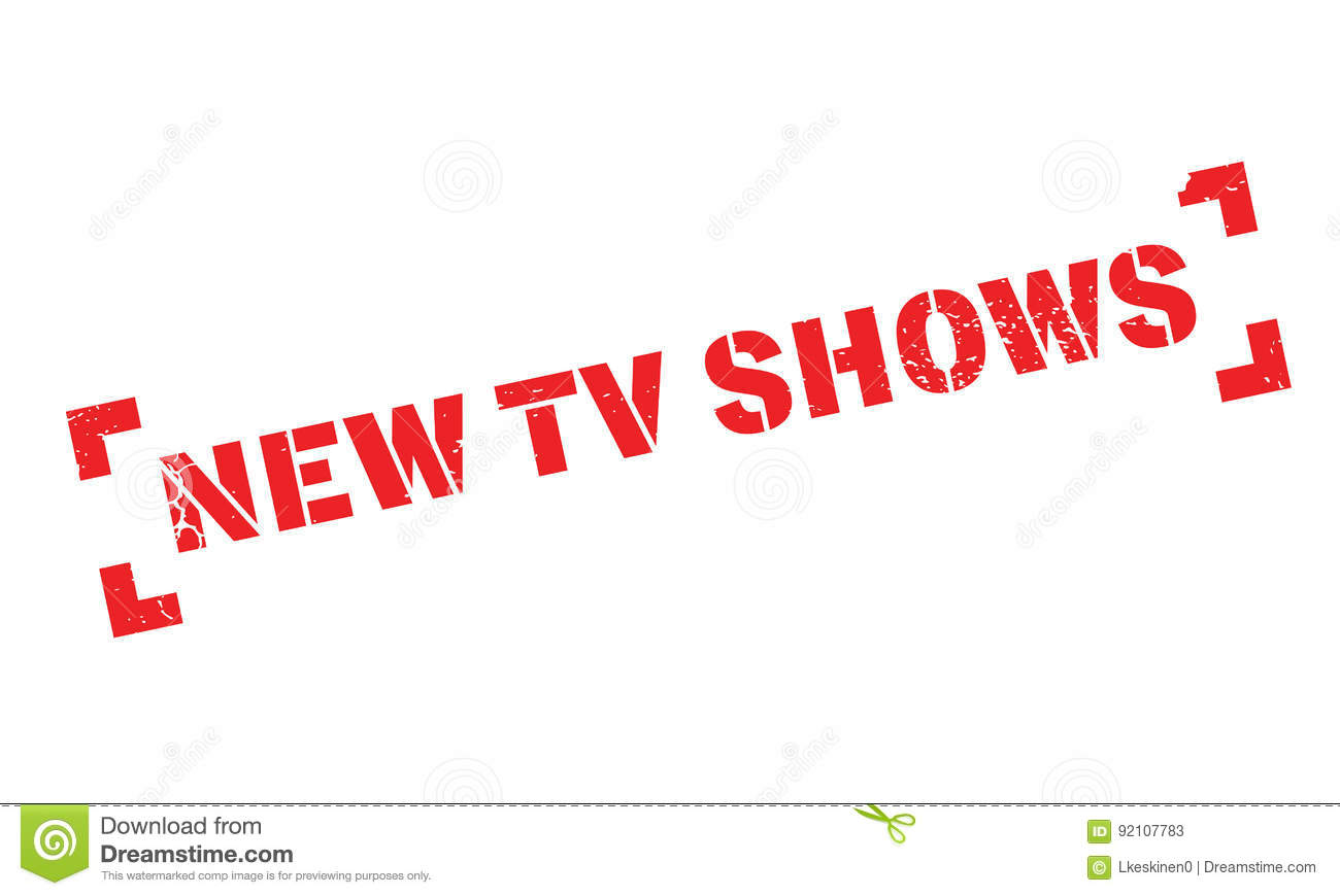 New Tv Shows rubber stamp stock vector  Illustration of