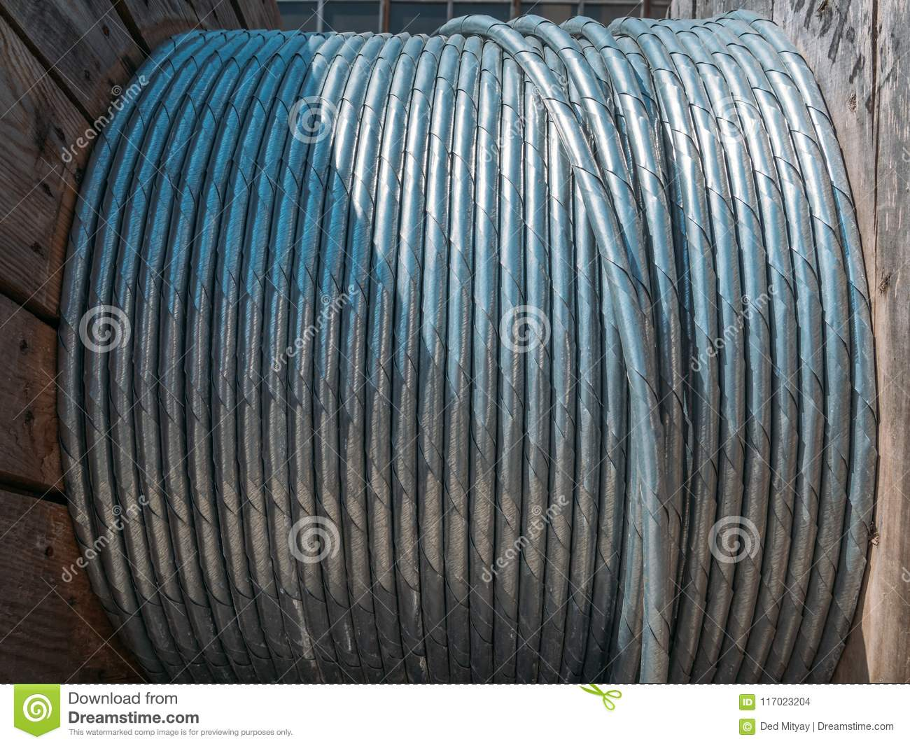 New Twisted Steel Cable Coil Wire Or Steel Rope, Industrial Metallic ...
