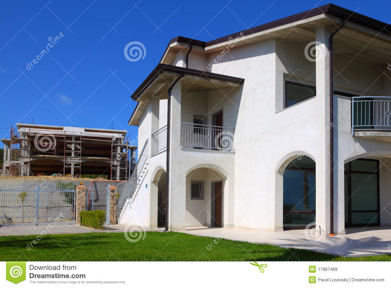 New two story house with garden royalty free stock images for New two story homes