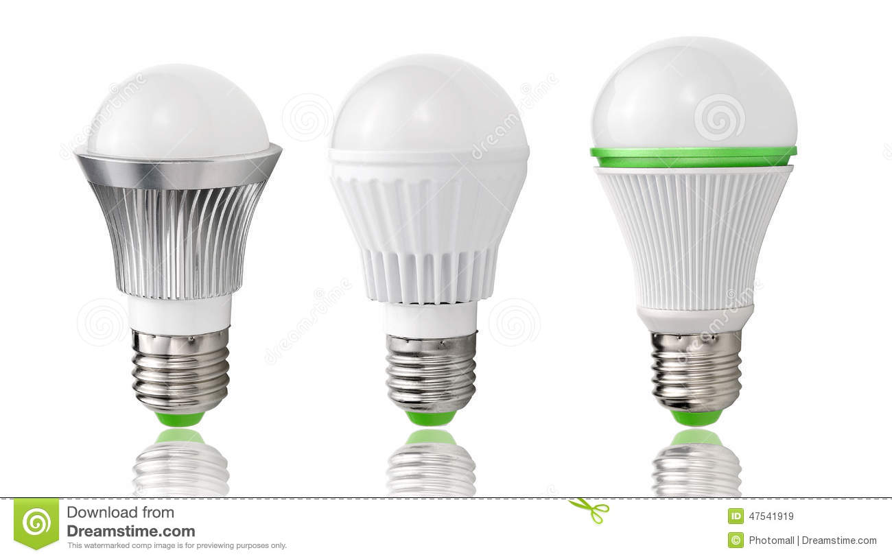 Energy Saving Lighting New Type Led Bulb Evolution Lighting Energy Saving Stock Illustration