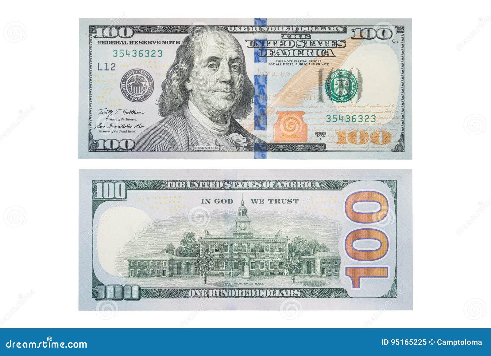 The New U S  100 Dollar Bill, Stock Image - Image of design