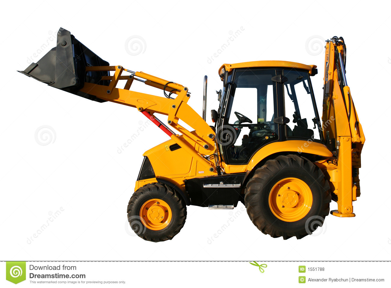 The New Universal Bulldozer Of Yellow Color Stock Photo