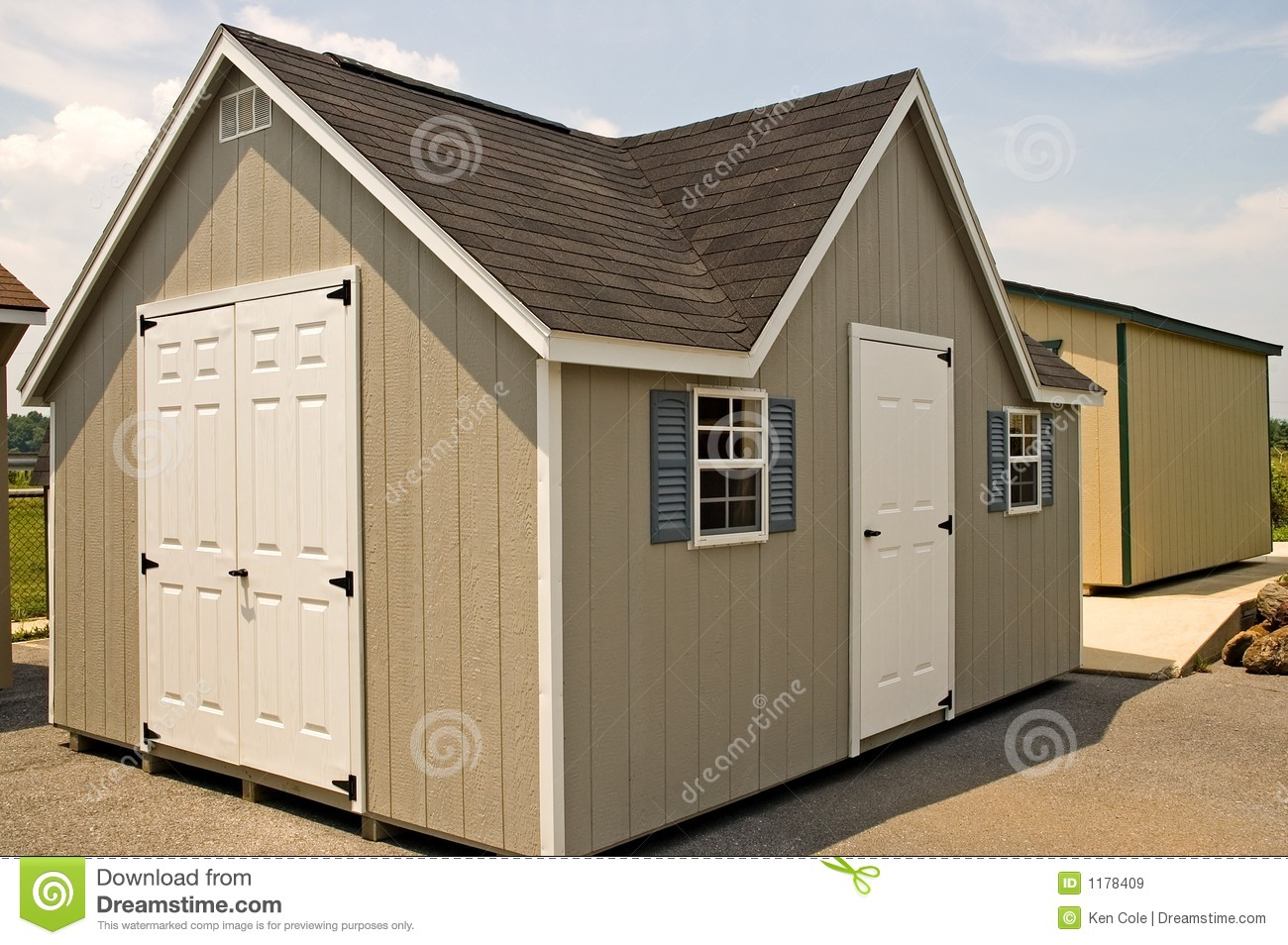 New utility storage shed royalty free stock images image for Utility storage shed