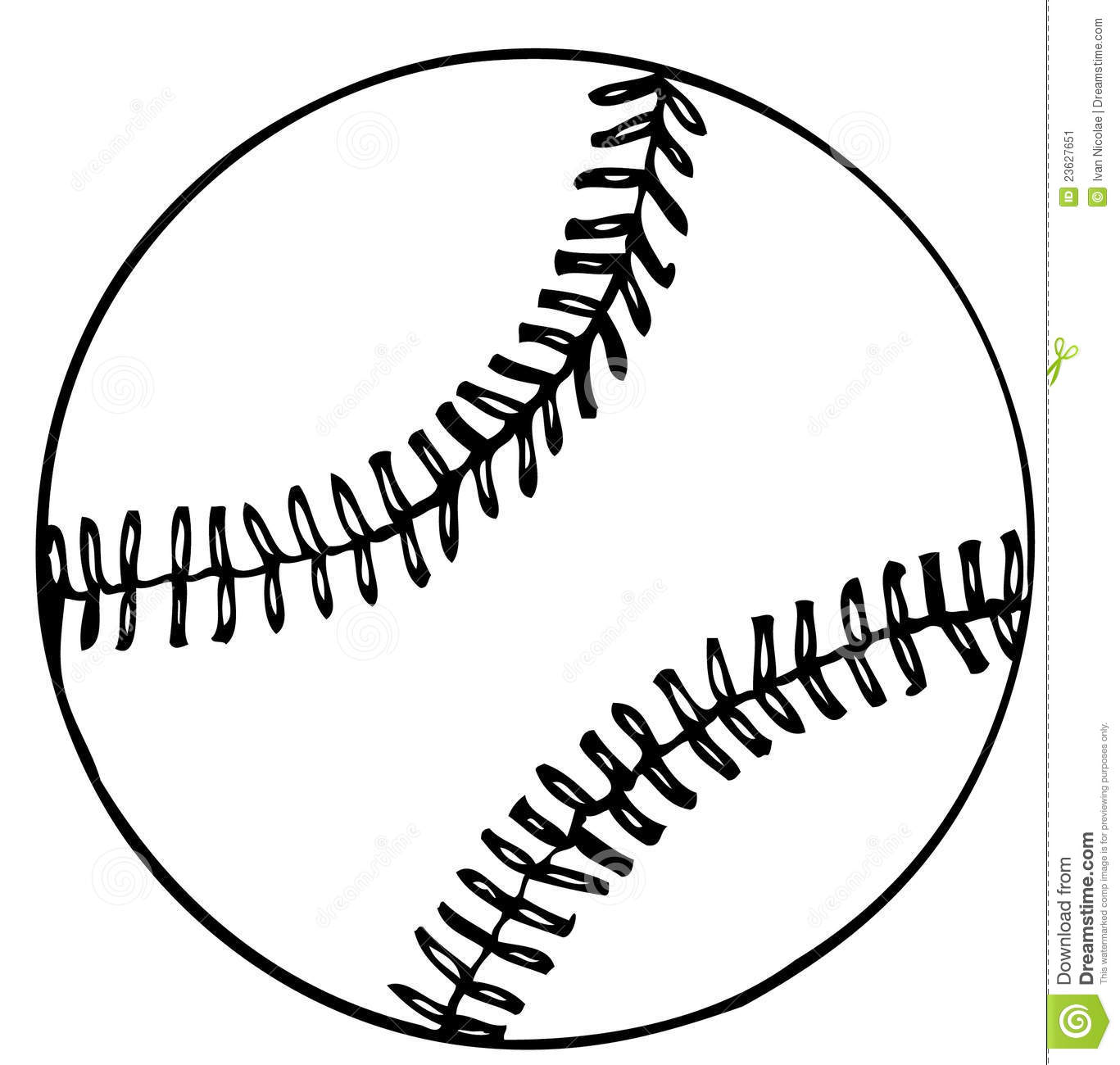 New Vector Baseball Stock Image - Image: 23627651