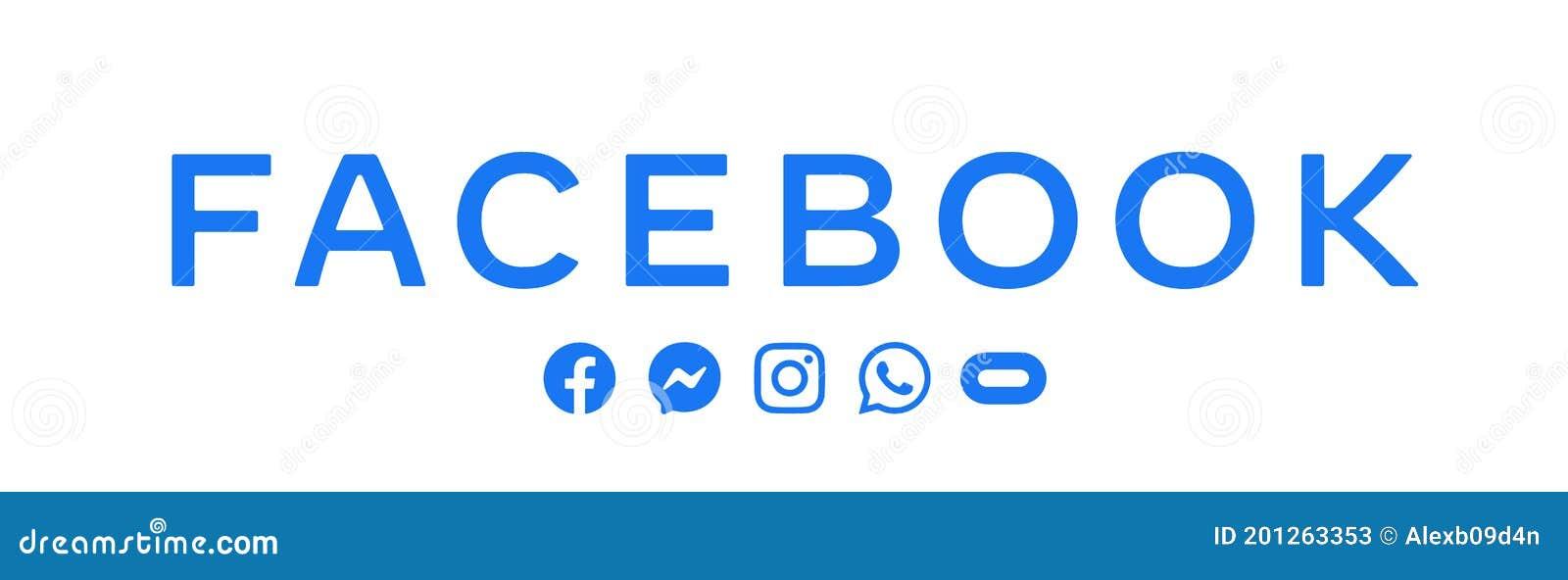 New Vector Logo Social Media Icon Facebook Messenger Instagram Whatsapp Oculus Editorial Stock Photo Illustration Of Logos Website 201263353